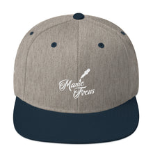 The Script Dropper Snapback Hat In Grey/Navy