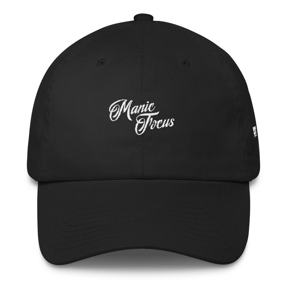 The Script Logo Dad Hat In Black