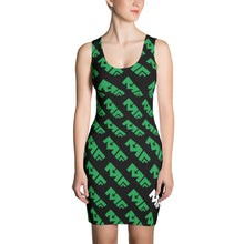 The Repeat Sublimated Dress in Green/Black