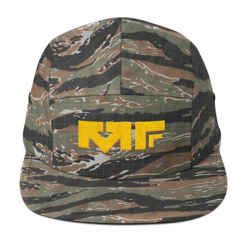 The Block Logo Five Panel Cap In Camo