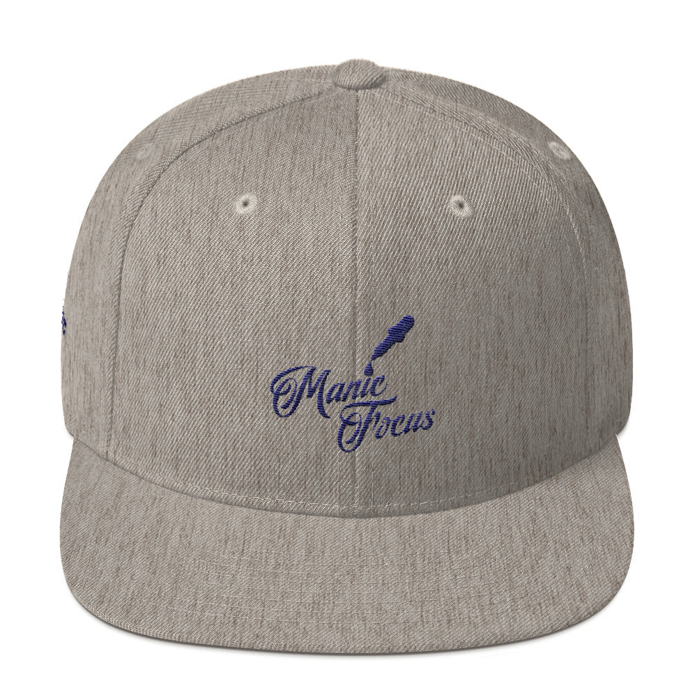 The Script Dropper Snapback Hat In Grey