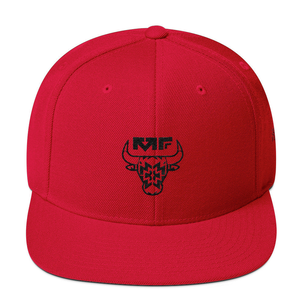 The '312' Snapback In Red/Black