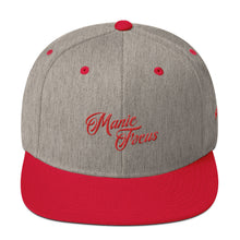 The Script Logo Snapback In Red/Grey