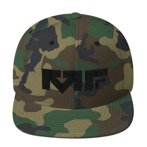 The Block Logo Snapback In Camo