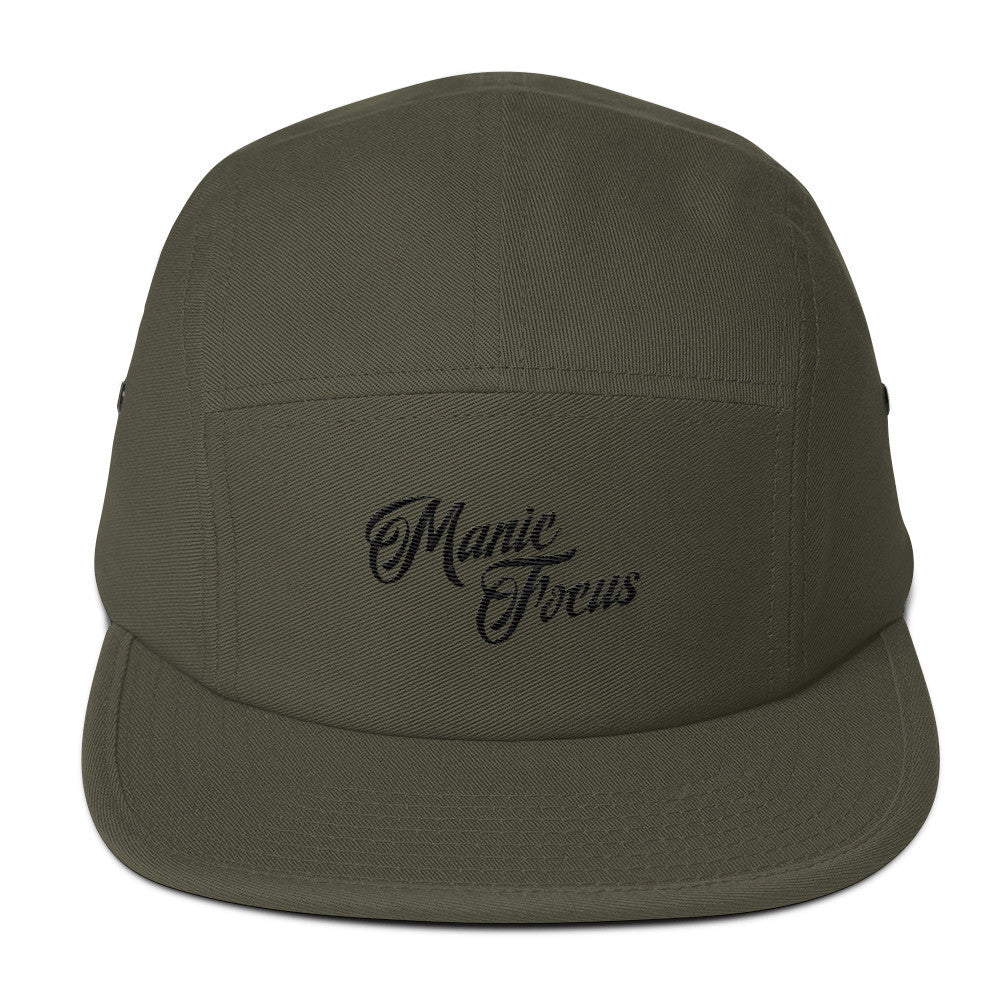 The Script Logo Five Panel Cap In Olive