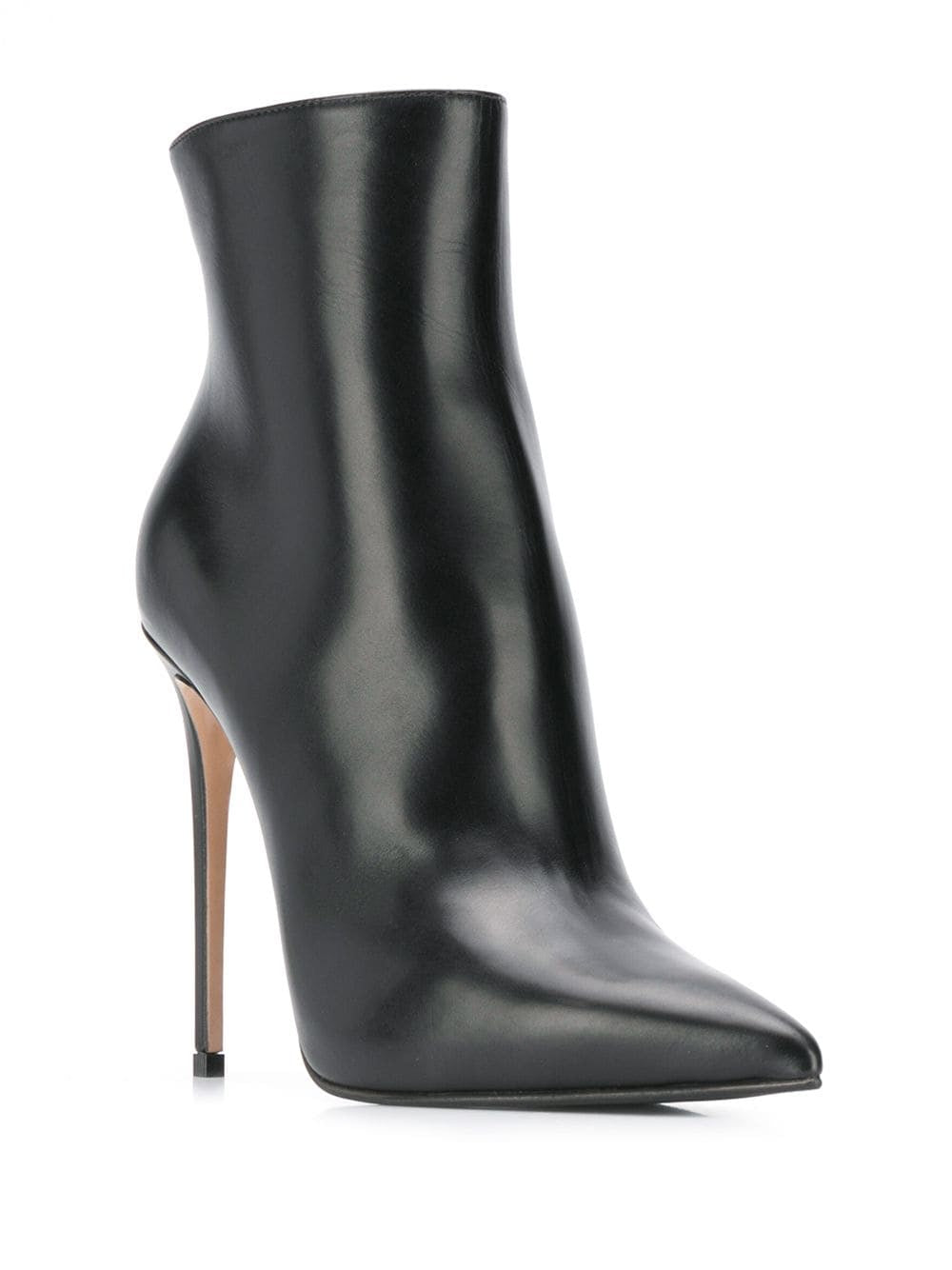 Black Leather Eva Ankle Boot