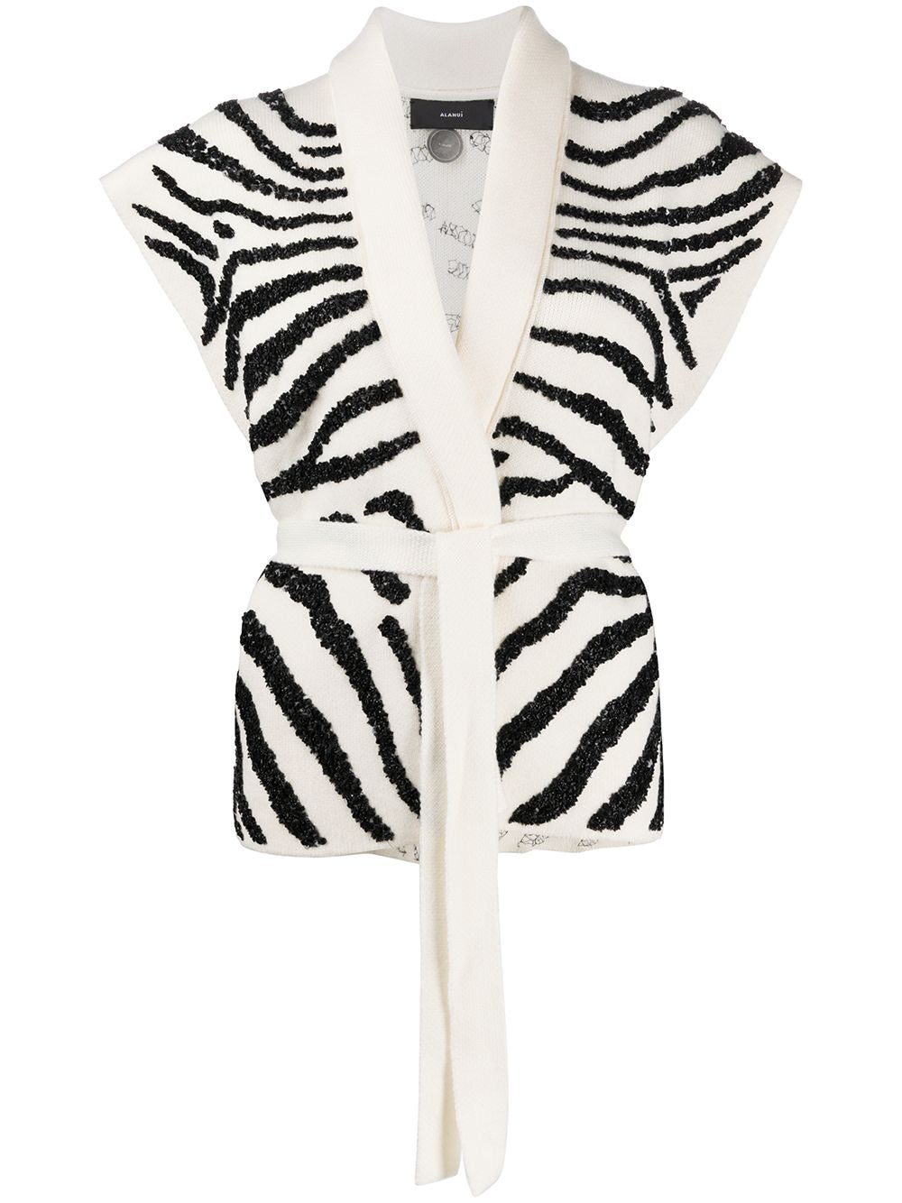Zebra Embroidered Gilet