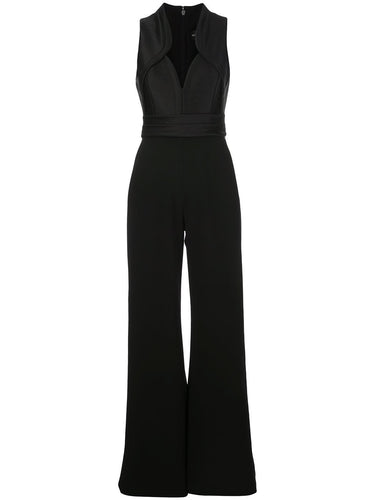 Black Sleeveless Curve Jumpsuit