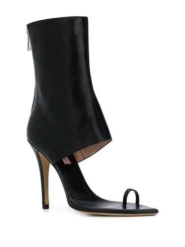 Black Open Toe High Heel