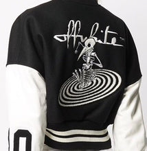 Black/White Cropped Varsity Jacket