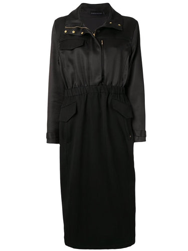 Black Parka Sheath Dress