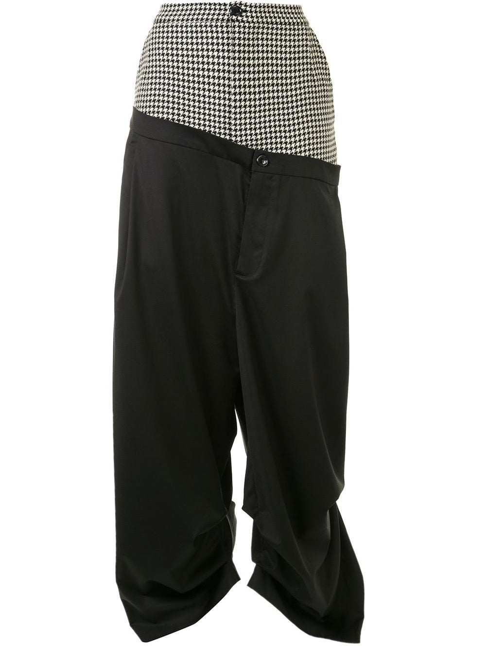 Houndstooth/Black Double Trouser