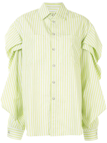 Lime Drop Shoulder Striped Top