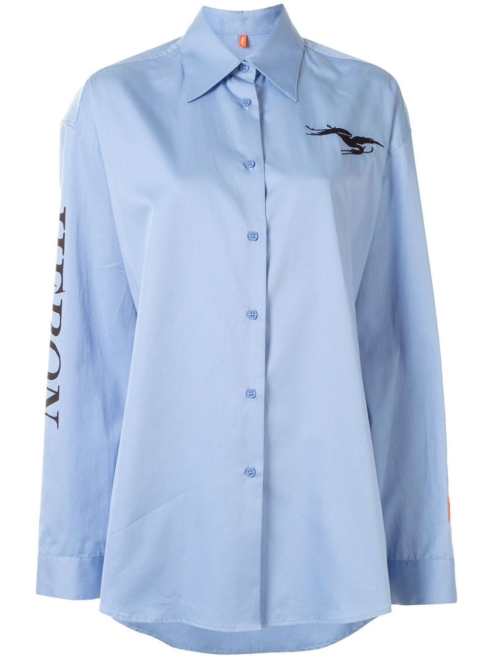 Blue Poplin Longsleeve Top