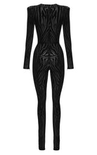 Black Leighton Zebra Catsuit