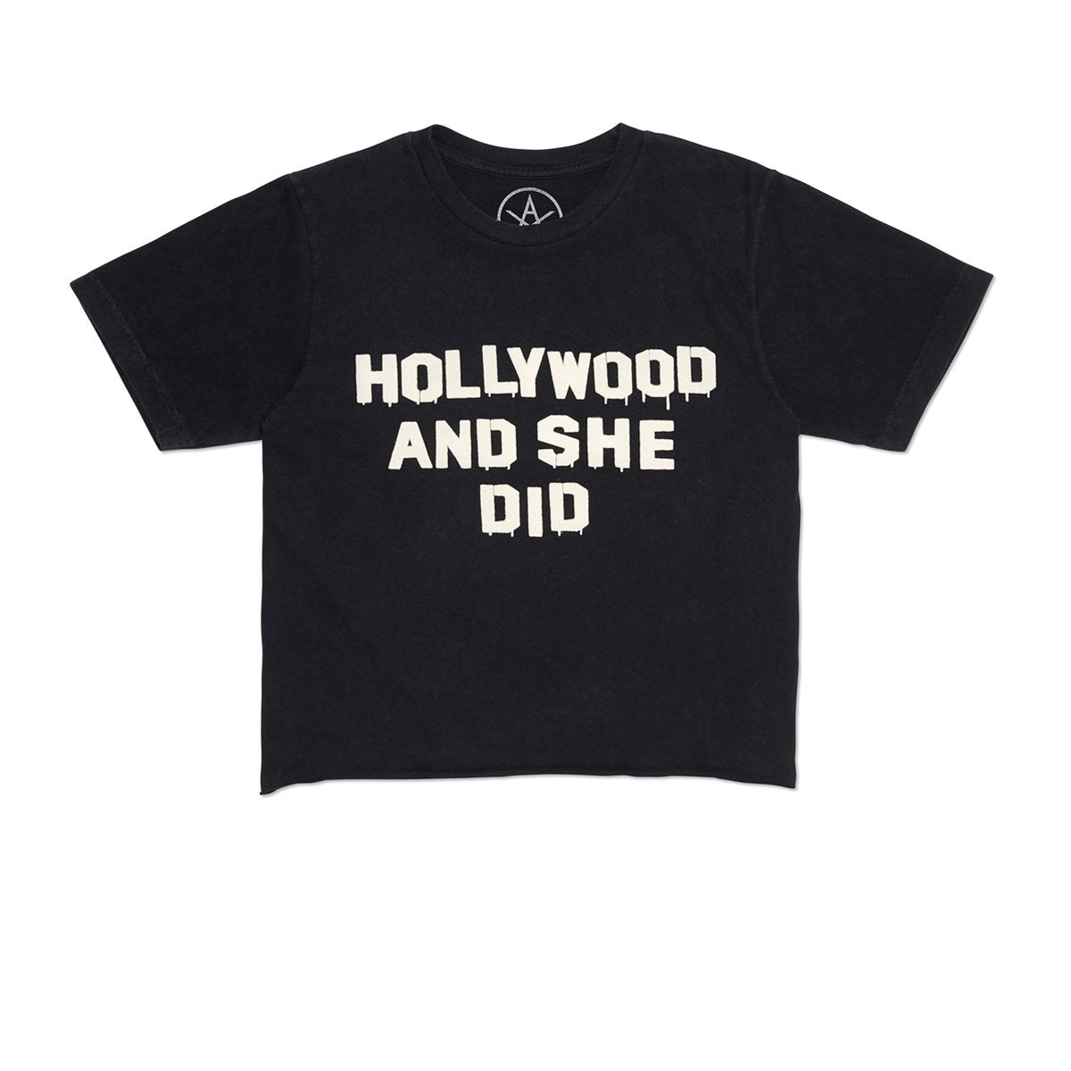 Vintage Black Holly Did It Crop Tee