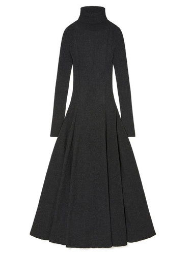 Charcoal Ribbed Ethereal Dress