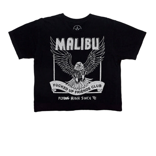 Washed Black Malibu FUFC Crop Tee