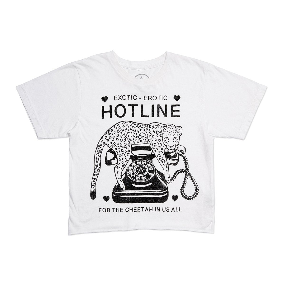White Hotline Crop Tee