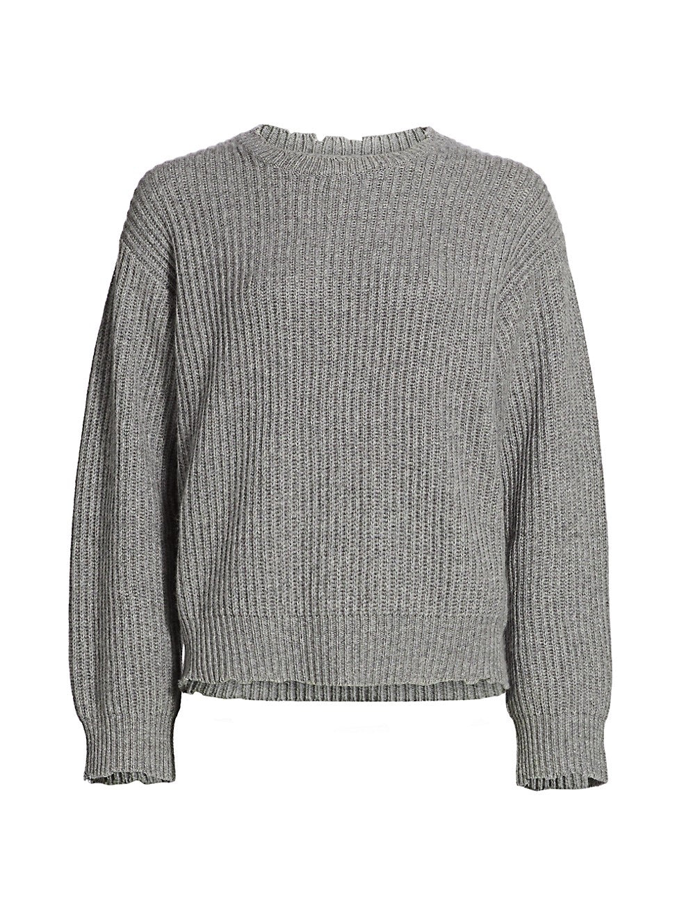 Cement Emma Ribbed Cashmere Sweater
