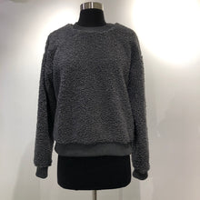 Grey Crewneck Fuzzy Sweater