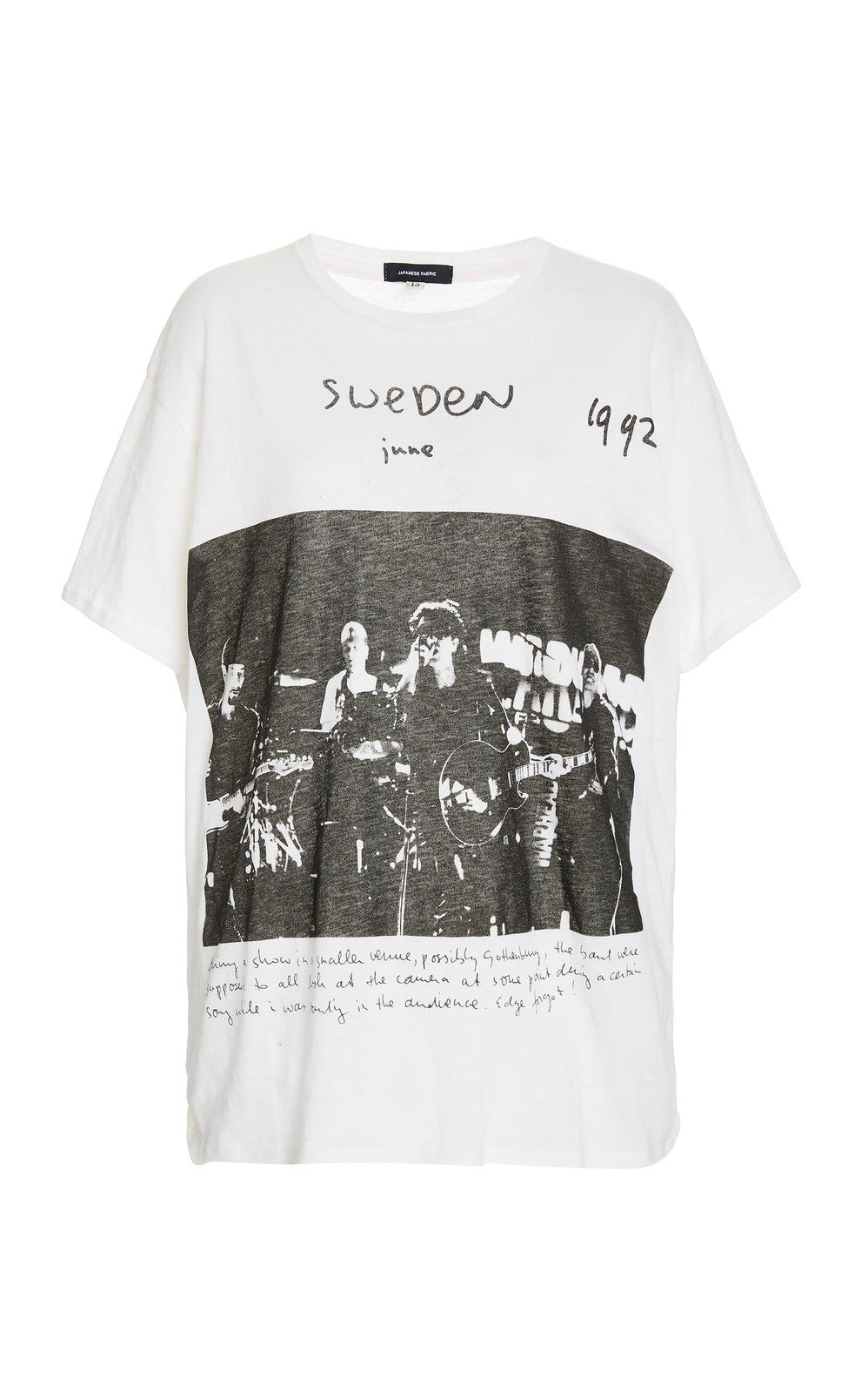 White U2 Sweden Printed Jersey Boy T-Shirt