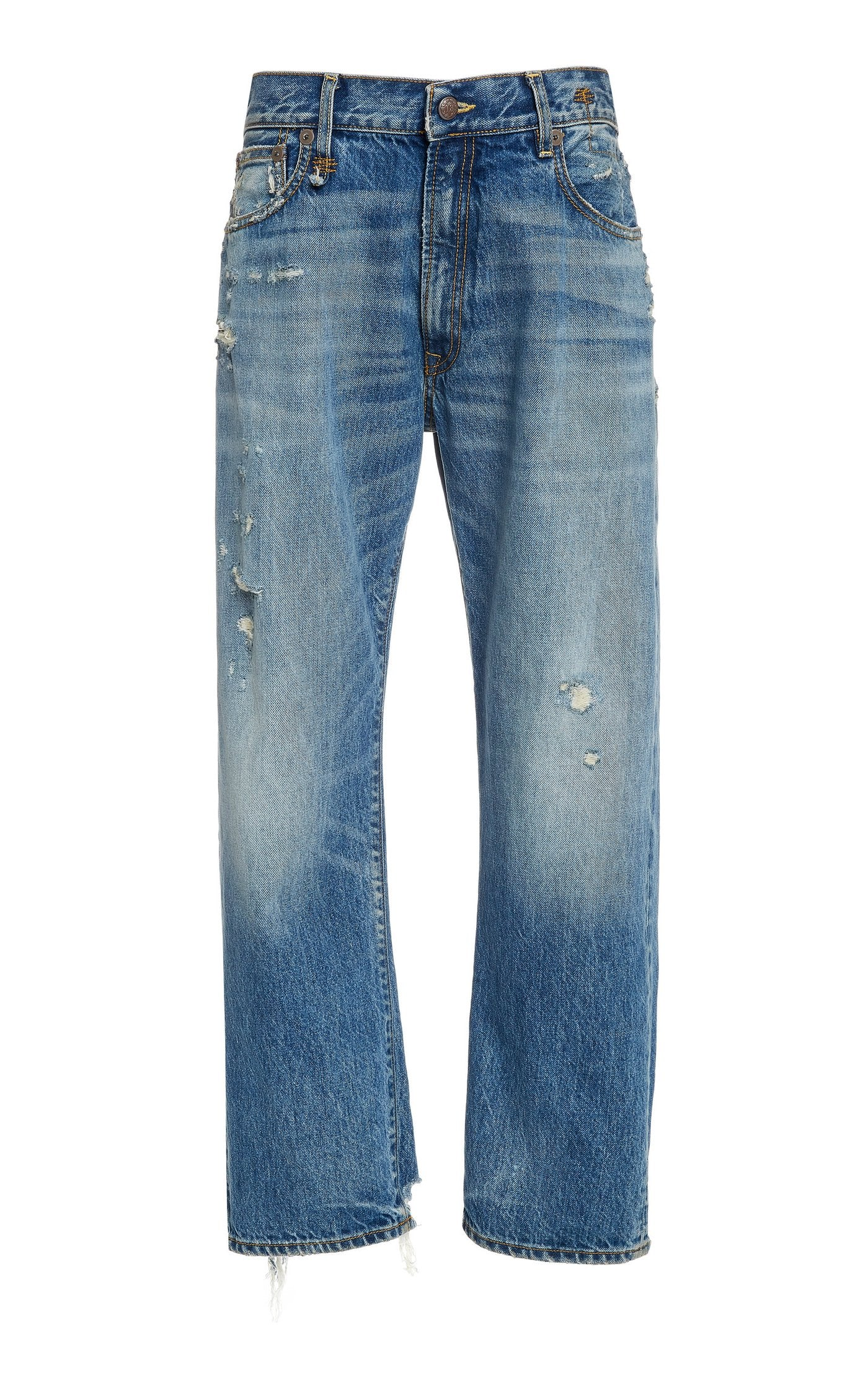 Boyfriend Rigid Low-Rise Straight-Leg Jeans