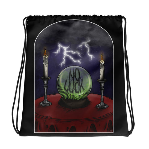 NO LUCK 'CRYSTAL VISIONS' (Drawstring Bag)