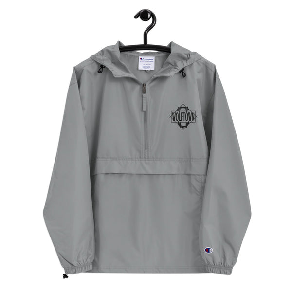WOLFTOWN (Embroidered Champion Packable Jacket)