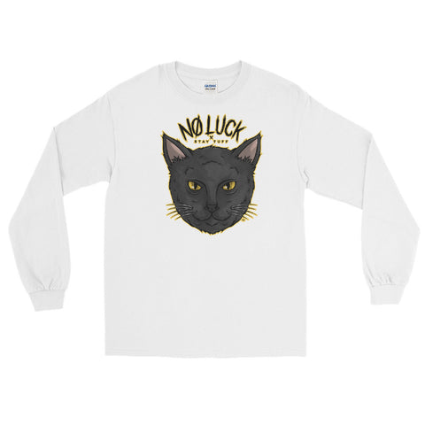 NO LUCK '9 LIVES' (Men's Long Sleeve Shirt)