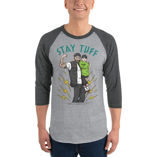 PUNK IS DAD (3/4 Sleeve Raglan T-Shirt)