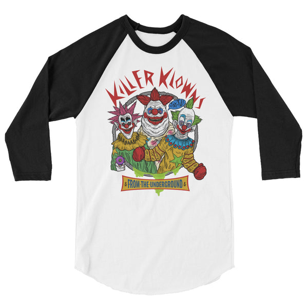 KILLER KLOWNS FROM THE UNDERGROUND (3/4 Sleeve Raglan T-Shirt)