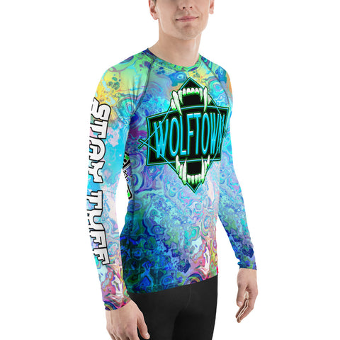 WOLFTOWN 'SWITCH IT' (Men's All-Over Print Rash Guard)