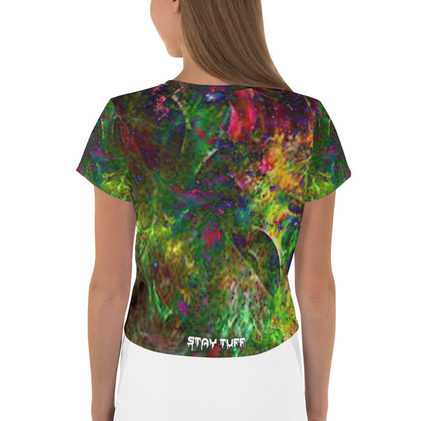WOLFTOWN 'PORTAL' (All-Over Print Crop Top)