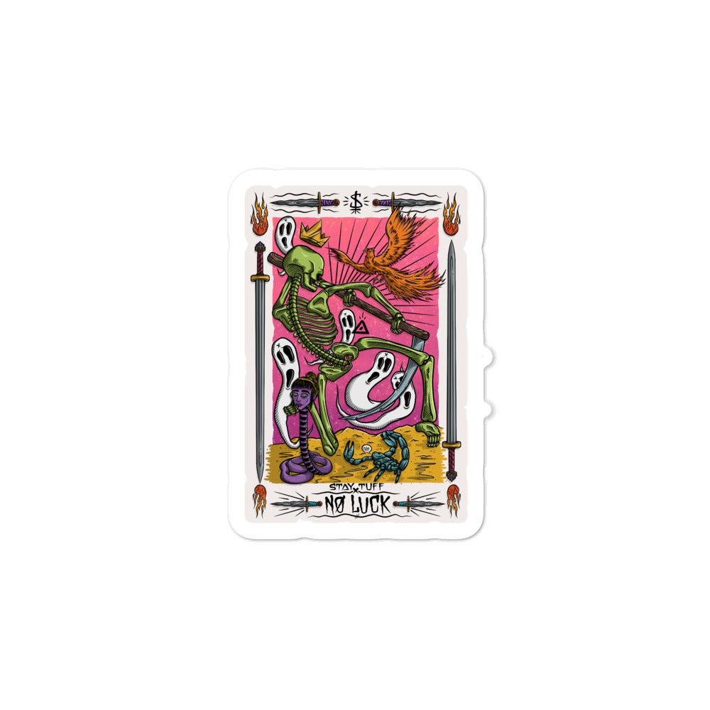 NO LUCK 'TAROT CARD' (Sticker)