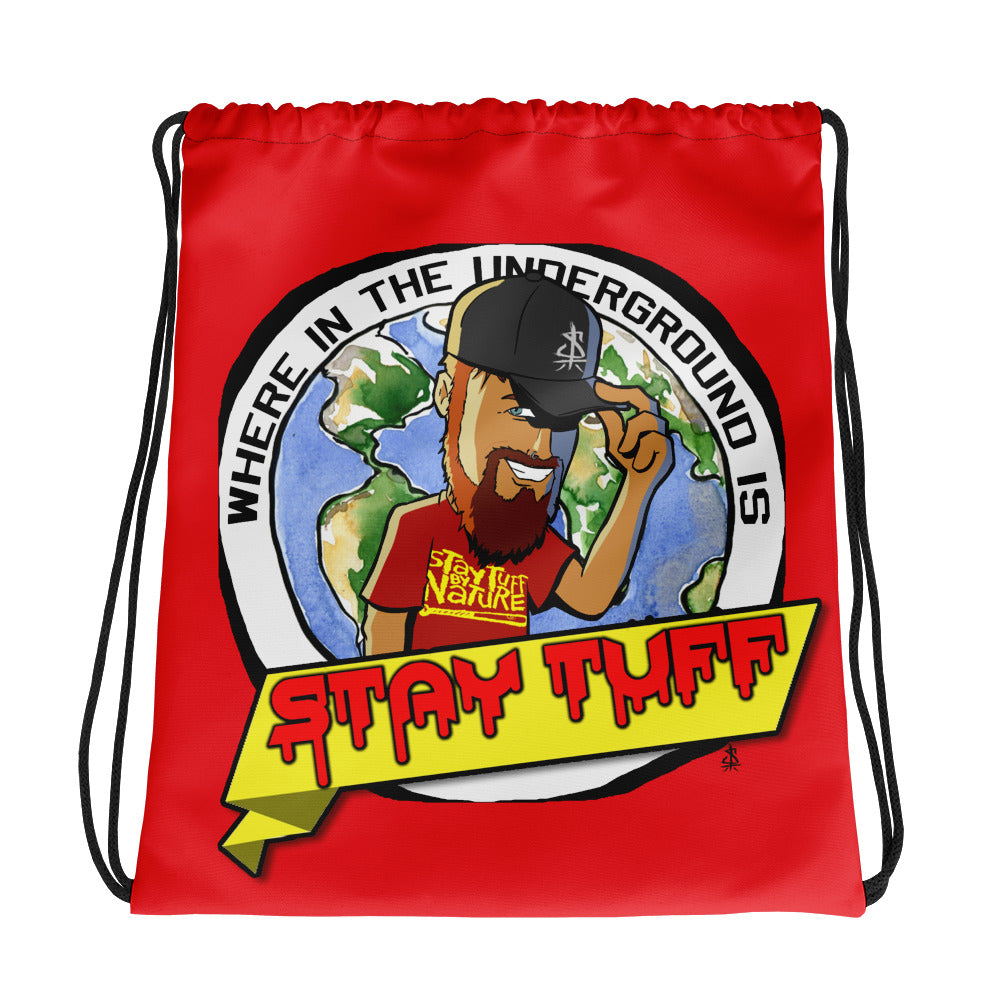 WHERE IN THE UNDERGROUND... (Drawstring Bag)