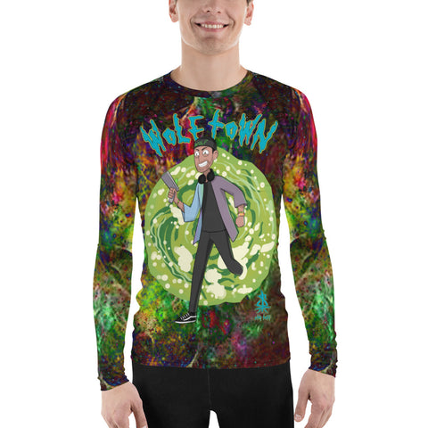 WOLFTOWN 'PORTAL' (Men's All-Over Print Rash Guard)