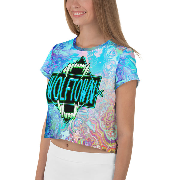WOLFTOWN 'SWITCH IT' (All-Over Print Crop Top)