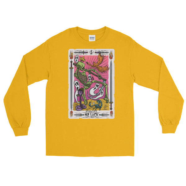 NO LUCK 'TAROT CARD' (Men's Long Sleeve Shirt)