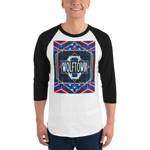 WOLFTOWN 'UNCHAINED' (3/4 Sleeve Raglan T-Shirt)