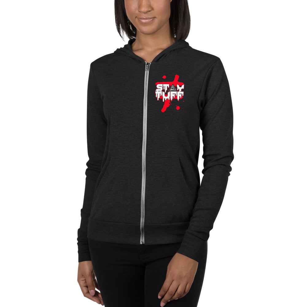 HARD TO LIVE, HARDER TO LOVE (Unisex Zip Hoodie)
