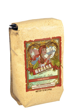 Habana Coffee, Ground, Santiago de Cuba Dark Artisanal Blend, 12 Ounce Bag