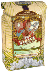 Habana Coffee, Whole Bean, Havana Nights Dark Artisanal Blend, 2 Pound Bag
