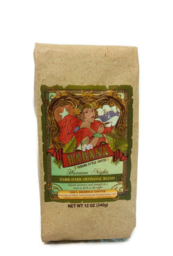 Habana Coffee, Ground, Havana Nights Dark Artisanal Blend, 12 Ounce Bag