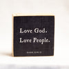 Love God. Love People.