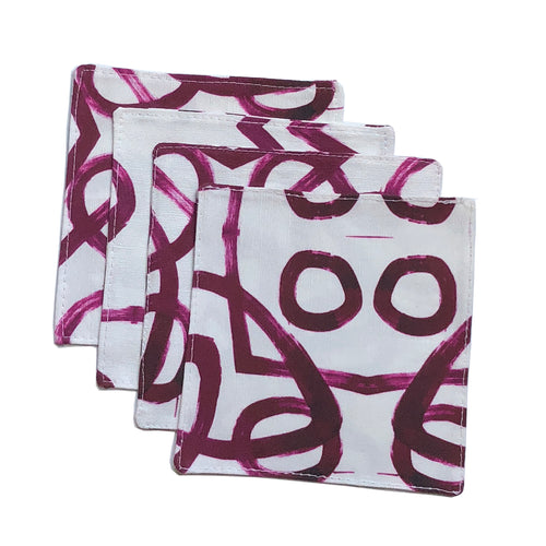 Anna Mulberry Cocktail Napkin Set