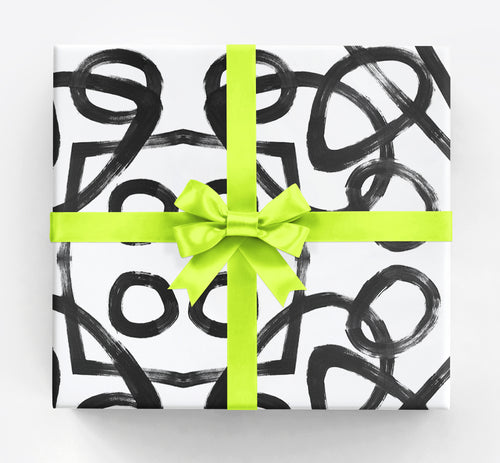 Anna White Black Gift Wrap