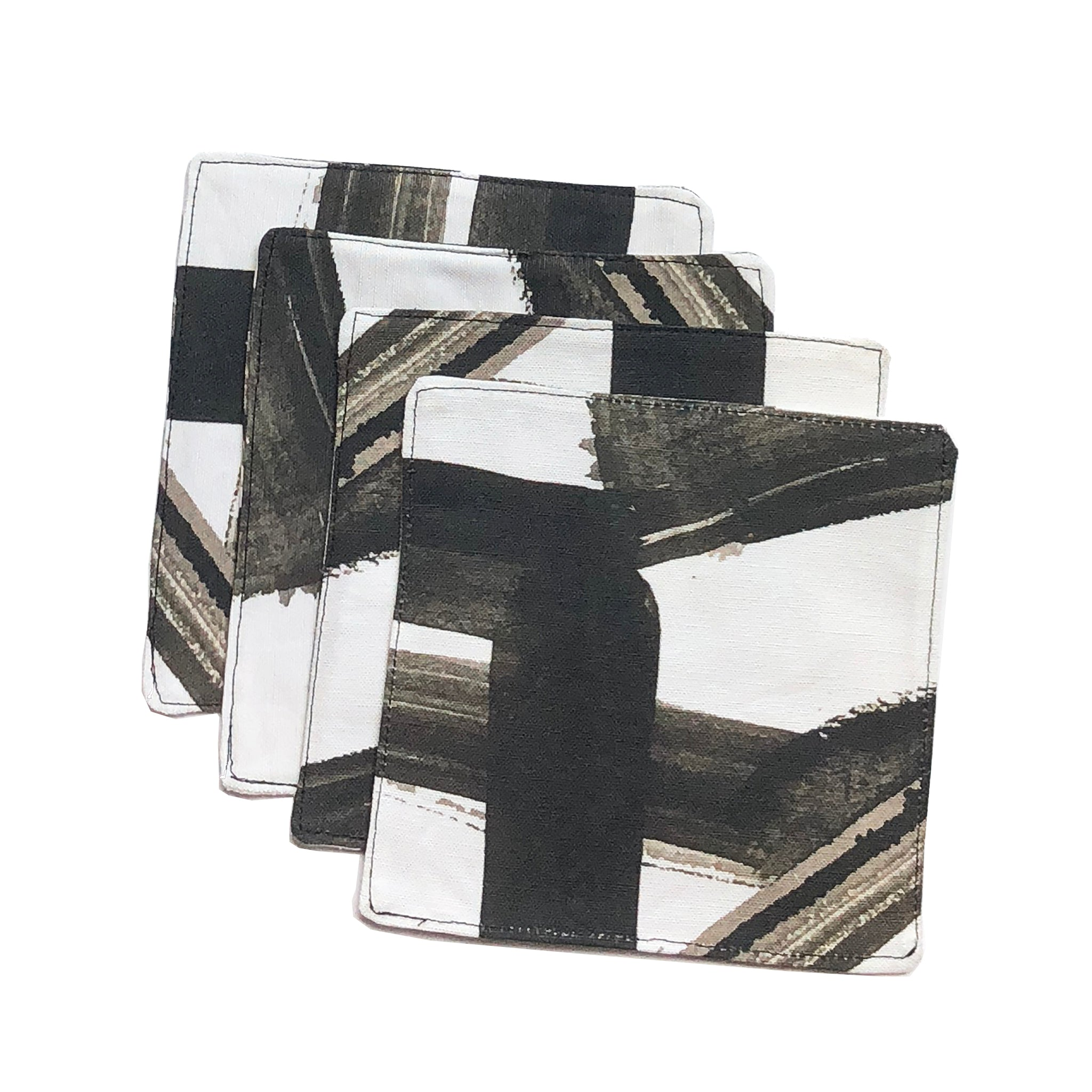 Carmella White Black Cocktail Napkin Set