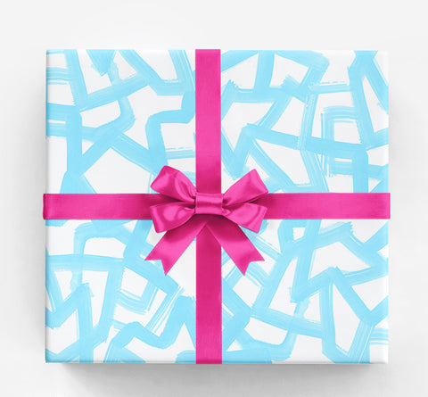 Carmella White Black Gift Wrap