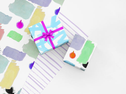 Stripe White Dusk Gift Wrap